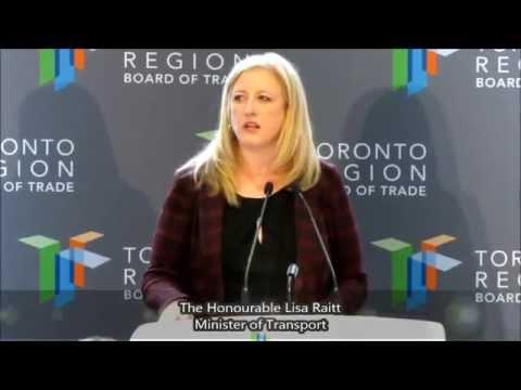 The Honourable Lisa Raitt, Minister of Transport