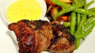 Lamb Loin Chops With Rosemary And Garlic Aioli