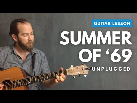 Acoustic guitar lesson for Summer of 69  Bryan Adams