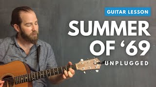 "Acoustic guitar lesson for ""Summer of '69"" by Bryan Adams"