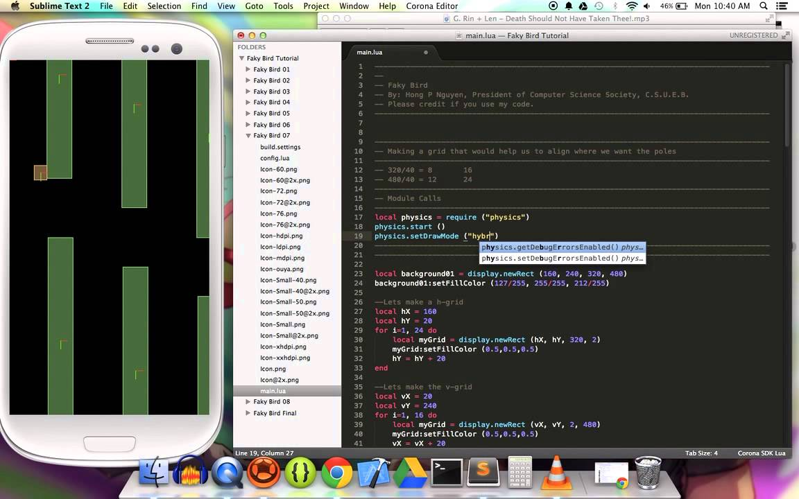 Managing multiple scenes with the composer api in corona sdk youtube.
