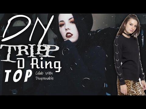 DIY Tripp D Ring Sleeve Top for £10 - Gothic Unisex DIY   Radically Dark  