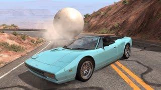 Giant Balls vs. Cars 3 | BeamNG.drive