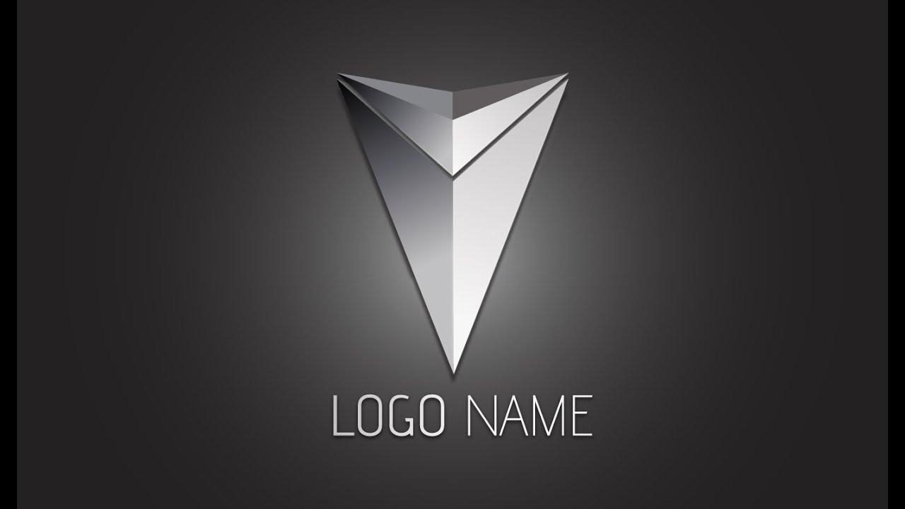 Illustrator Tutorial : 3D Logo Design (Metallic Arrow ...