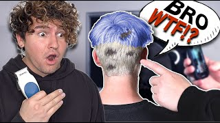 I CUT & DYED MY ROOMMATES' HAIR & RUINED IT...