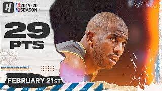 Chris Paul 29 Points Full Highlights   Nuggets vs Thunder   February 21, 2020