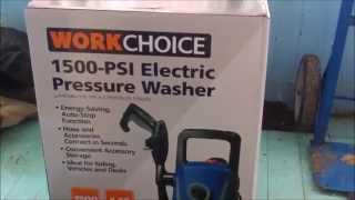 work choice 1500 psi electric pressure washer unboxing