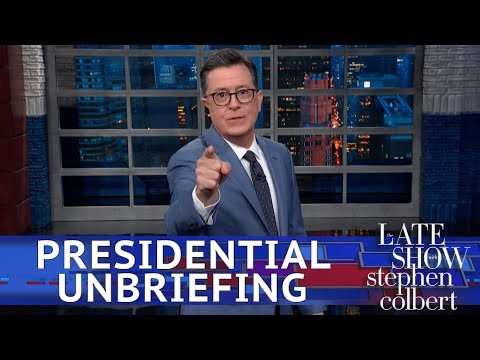Stephen Colbert raises an eyebrow at what the Pentagon isn't telling Trump about Russia