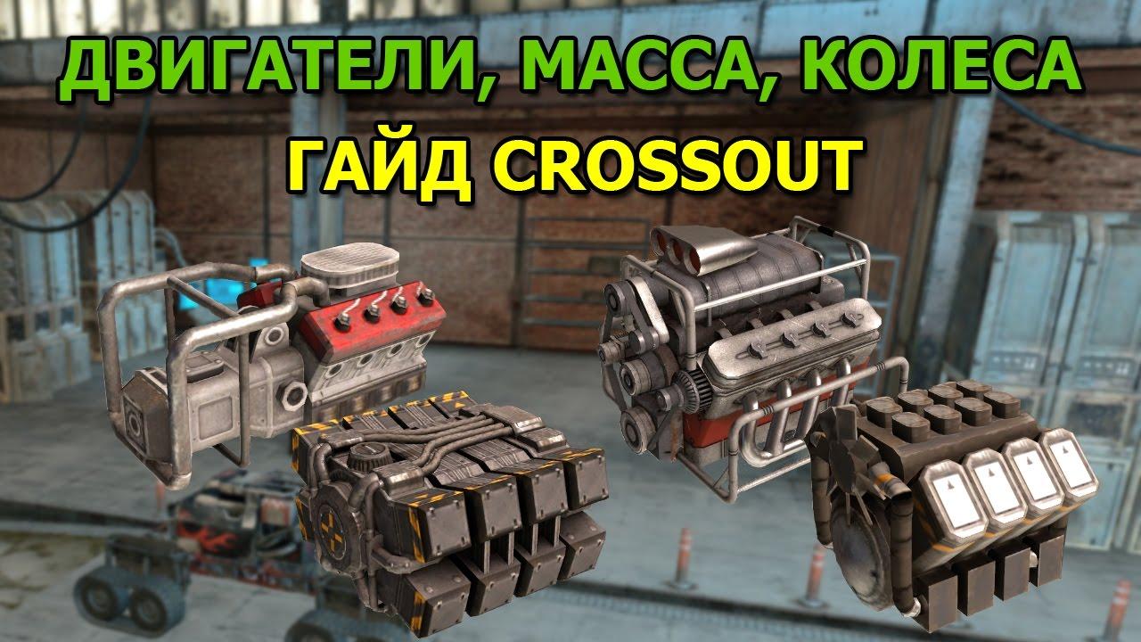 Двигатели, Масса, Колеса [Гайд Crossout] | масса автомобиля