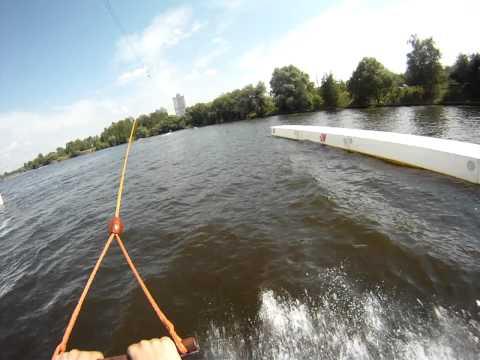 Вейк в Строгино. Лебедка. Снято на GoPro.