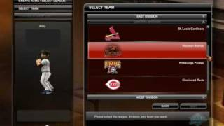 MLB Dugout Heroes Character Creation