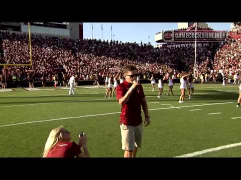 Kyle Carpenter Leads Off the Gamecocks Cheer