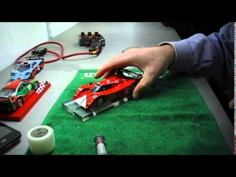 Scratch built slot car chassis for GT-ONE TOYOTA Scaleauto