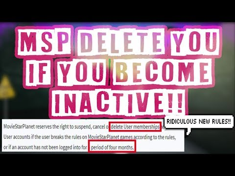 *New Rules* MSP DELETE YOU IF YOU BECOME INACTIVE!