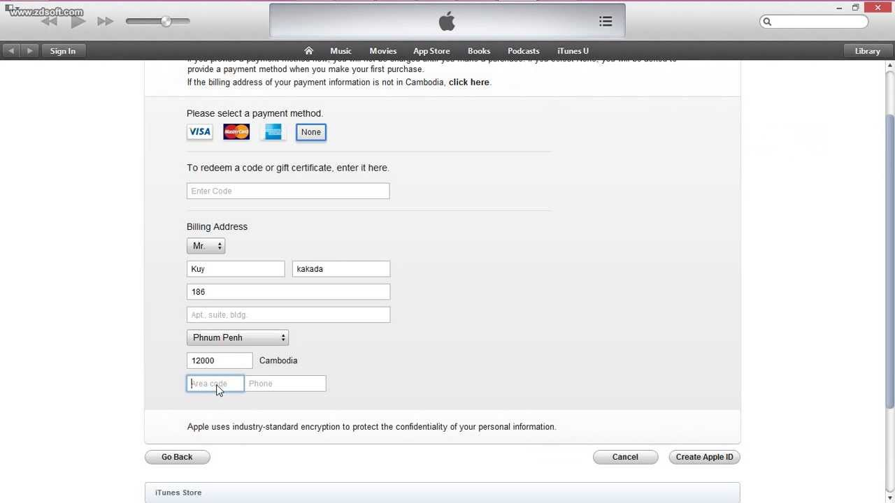 how to open free apple id without credit card