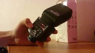 распаковка с AliExpress: бюджетная вспышка для фотоаппарата INSEESI IN560IV . обзор и тестирование