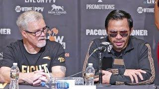 Manny Pacquiao vs. Adrien Broner FULL post fight press conference
