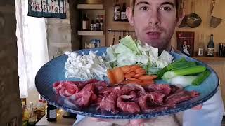 How to make Sukiyaki (Live - unedited)