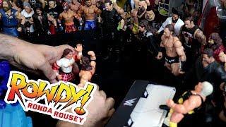Rowdy Ronda Rousey vs Adam Bomb - WWE Mattel Wrestling Figure Fun