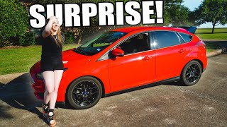 SURPRISING my little sister by modding her car!!