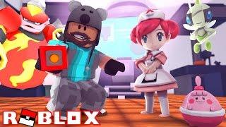MAGMORTAR + NURSE JOY + HAPPINY!!!! | Pokémon Fighters EX | ROBLOX