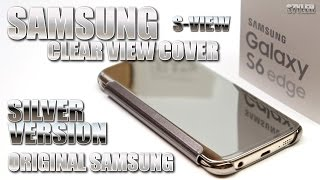 Samsung Galaxy S6 Edge - Clear View Cover, Silver Mirror (Test & Unboxing) Original Accessory