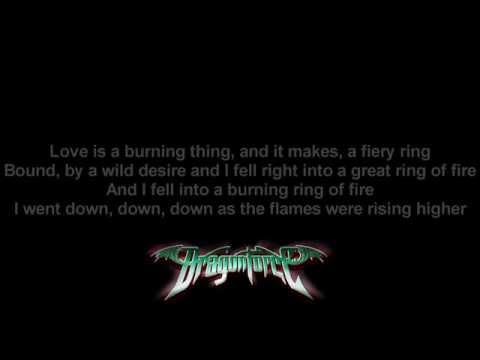 DragonForce - Ring Of Fire (Johnny Cash Cover) | Lyrics on screen | Full HD