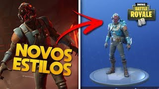 NEW STYLES FOR THE VISITOR'S SKIN AT FORTNITE!