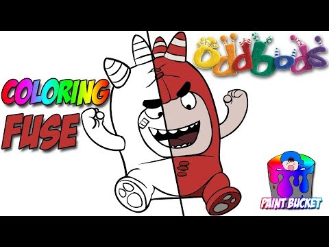 Oddbods Cartoon Coloring Book - Fuse Coloring Episode For Kids To Learn Colors