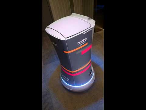 Robot room attendant at the Aloft Hotel in Silicon Valley!