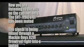 Ampeg SVT-7PRO Demo 2/2