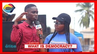 What is DEMOCRACY? | Street Quiz | Funny Videos | Funny African Videos | African Comedy |