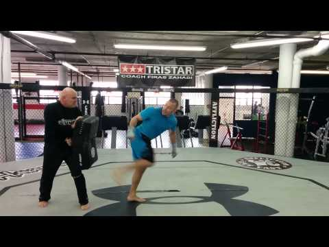 Training with Vic Thériault