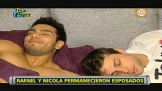 Esto es Guerra: Nicola y Rafael esposados: Mira cómo fue su...