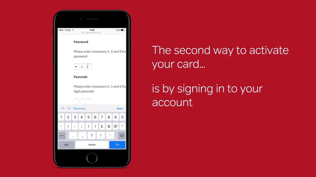 How to activate a credit card 94