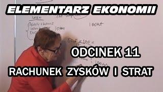 ELEMENTARZ EKONOMII - odc.11 Rachunek zysków i strat