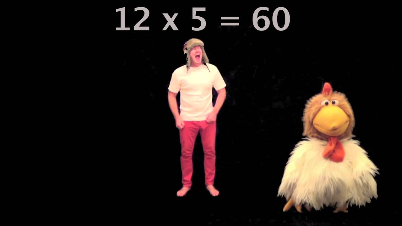 Learn 5 x table times tables jingle jeff 39 s times tables for 12 times table song youtube