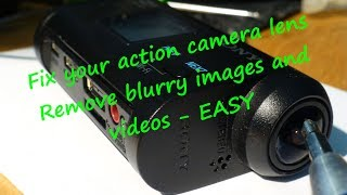 Sony Action cam FIX blurry image easy