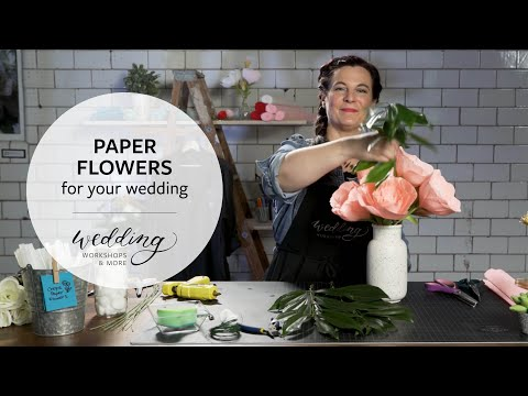 DIY Wedding: Paper Flower Bouquets