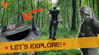 Hidden HATCH discovered in WW2 FOREST!