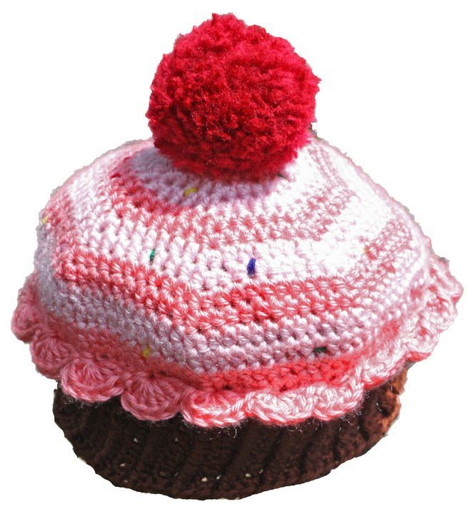43d5328f5 Crochet Preemie to Adult Size Cupcake Beanie Part 2 of 3