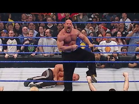 Goldberg is arrested after attacking Brock Lesnar: WWE No Way Out 2004