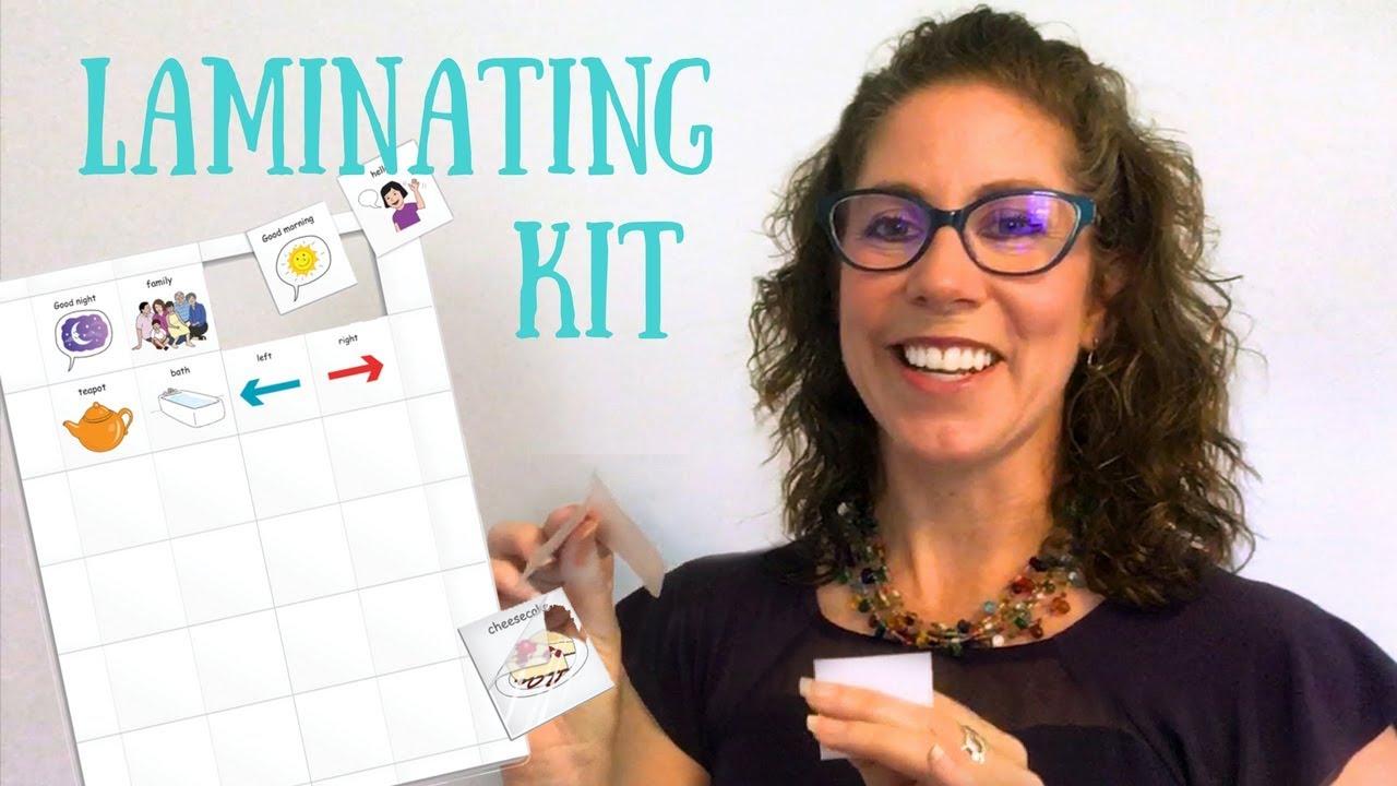 Laminating Kit For Pecs You