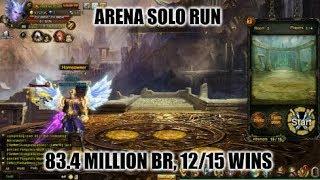 Wartune :- Arena Solo Run (83.4 Million BR) Knight ShadowOfDark (12/15 Wins)