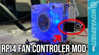 RPi4 Ice Tower Heatsink and cooler with fan controller mod!!