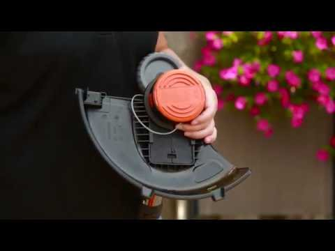 Changing a Single Line Spool on a BLACK+DECKER String Trimmer