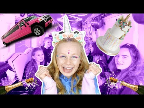 MiA'S 13th BiRTHDAY UNiCORN LiMO PARTY!! 😃🎉
