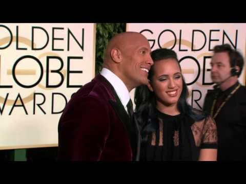 Dwayne 'The Rock' Johnson Golden Globe Awards Fashion Arrivals (2016)