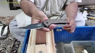 سكين كاميلوس CAMILLUS معدن D2 تجربة تدمير الحد وإعادته