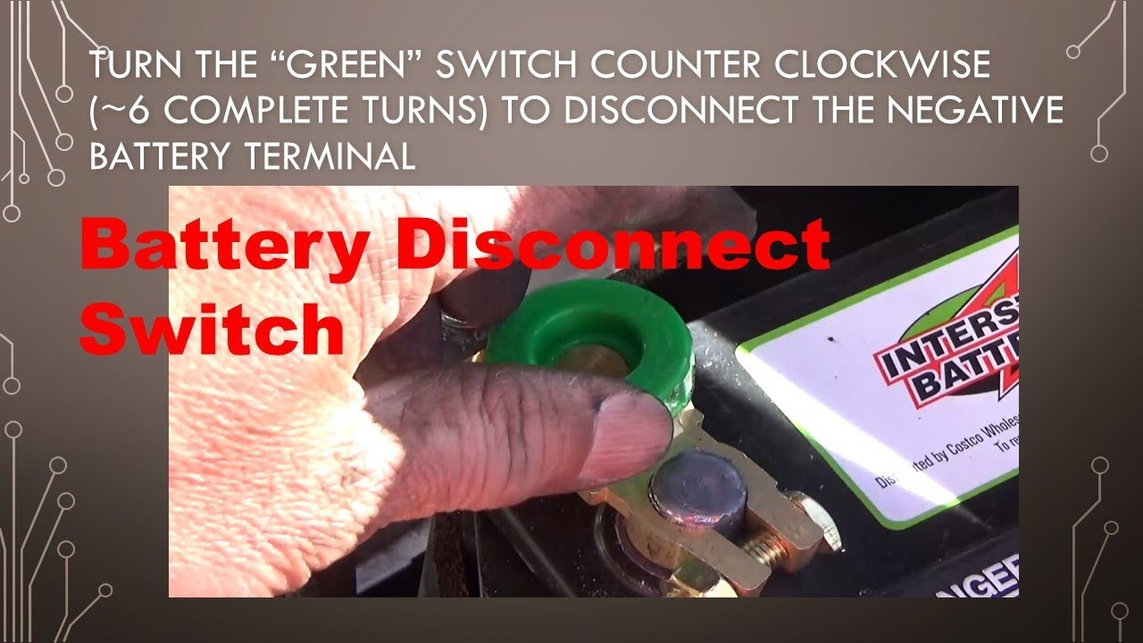 small resolution of battery disconnect switch installation on a 12v car battery